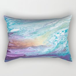 Purple and Blue Abstract Rectangular Pillow