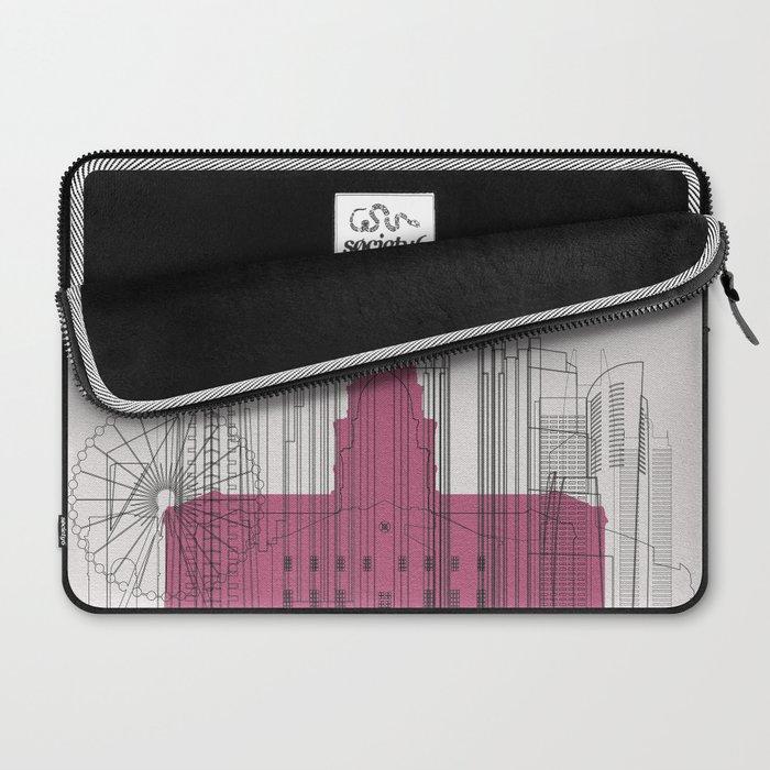 Atlanta Landmarks Poster Laptop Sleeve