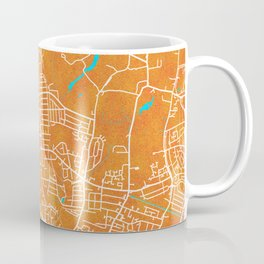 Slough, England, Gold, Blue, City, Map Coffee Mug