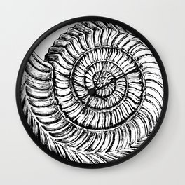 Shell work | Sketch | Gothic Decor | Shell decor | Shell pillow | Alien shell Wall Clock