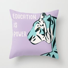 Education is power Throw Pillow