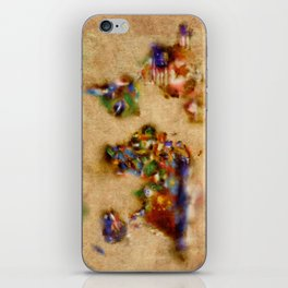 world map watercolor flags 3 iPhone Skin