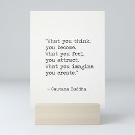 Buddha quote 5 Mini Art Print