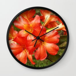 Vireya Flame Wall Clock