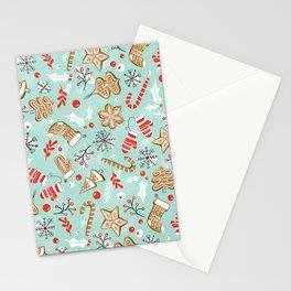 Gingerbread Dreams - Aqua Stationery Cards