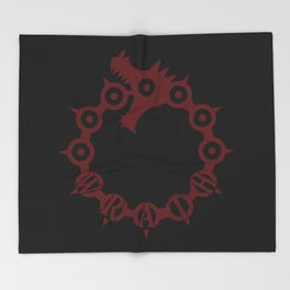 The Dragon's Sin of Wrath Throw Blanket