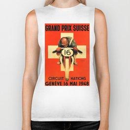 Grand Prix de Suisse, Race Poster, Vintage Poster, t-shirt Biker Tank