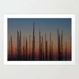 Sleeping Sails Art Print