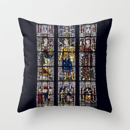 Good Knight Stained Glass Window Stratford Upon Avon England Throw Pillow