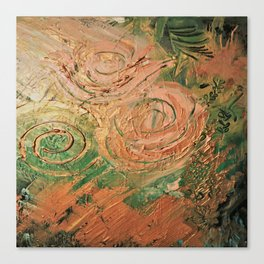copper roses abstract Canvas Print