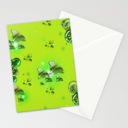 Greenery - Butterflies and Bubbles Stationery Cards