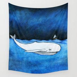 Seastorm over the whale Wall Tapestry