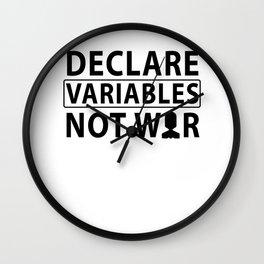 Coder SQL variables War Nerd developers Gift Wall Clock