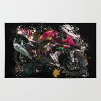 motorcycle Area & Throw Rugs featuring Motorcycle by ron ashkenazi