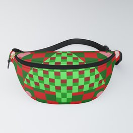 Patchwork Christmas Tree Geometric Fanny Pack