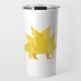 Origami Stegosaurus Flavum Travel Mug