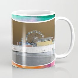 Santa Monica Pier Tricolor Coffee Mug