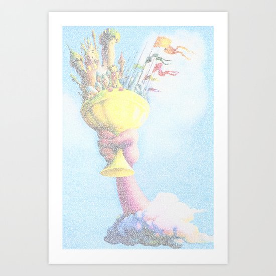 Monty Python & The Holy Grail. The Script Print! Art Print