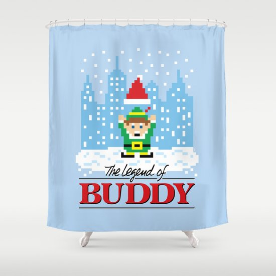 The Legend of Buddy Shower Curtain