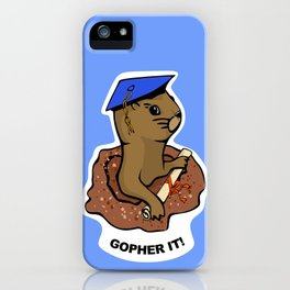 Gopher it, Graduate! iPhone Case