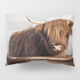Highland Cow in the Tub Pillow Sham