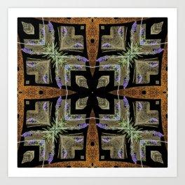 Patterned Lavender - Lavandula Art Print