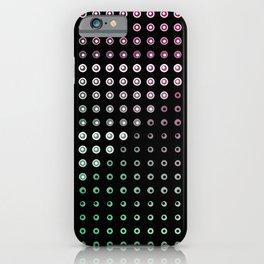 Simultaneous Brightness Contrast Gradient (Black Background) iPhone Case
