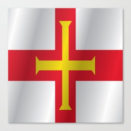 Flag of Guernsey Canvas Print