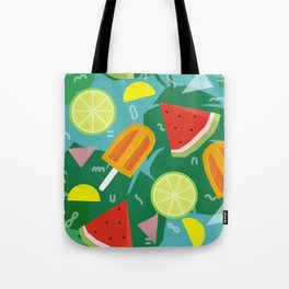 Watermelon, Lemon and Ice Lolly Tote Bag
