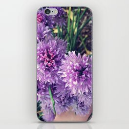 Chive Blossom Bouquet iPhone Skin