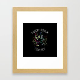 TOILETDROME FOREVER Framed Art Print