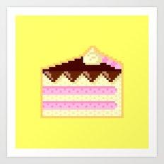 Pixel Cake Art Print