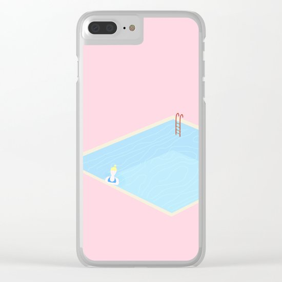 Swimming pool Clear iPhone Case