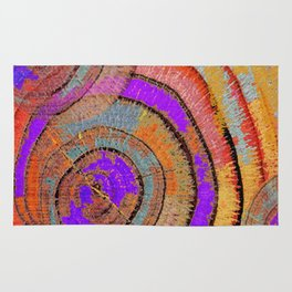 Tree Ring Abstract Rug