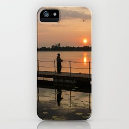 Angler on the river iPhone Case