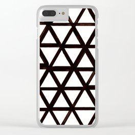Handmade Vintage triangle design Clear iPhone Case