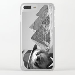 Sloth in Egypt in front of the pyramids Clear iPhone Case