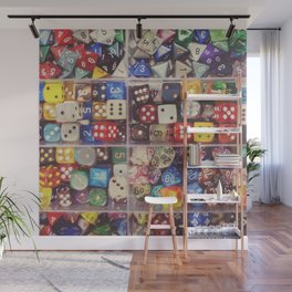 Colorful Dice Wall Mural
