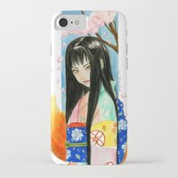 kit king iPhone & iPod Cases featuring Kitsune Kit by Stormwolf Studios
