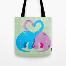 dino love pillow Tote Bag