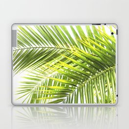 Palm leaves tropical illustration Laptop & iPad Skin