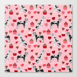 Great Dane valentines day dog person must have gifts to say i ruff you Canvas Print