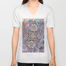 And then we floated as one Unisex V-Neck
