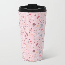 Quarry Pink Stone Metal Travel Mug