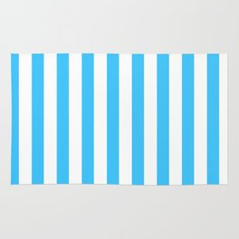 Blue and whie stripes Rug