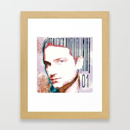 barcode haircut Framed Art Print