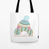 hat Tote Bags featuring Hat by Samantha Eynon