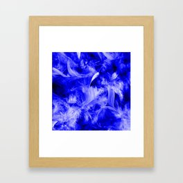 Colorful Feathers,blue Framed Art Print
