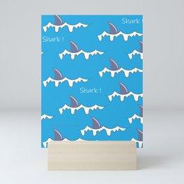 Shark fin pattern Mini Art Print