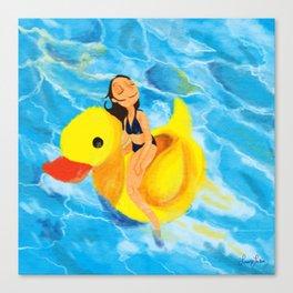 Pool Queen Canvas Print